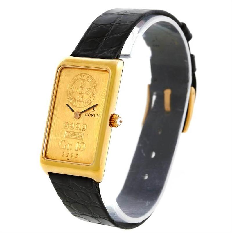 Corum 18K Yellow Gold 10 Gram Ingot 999.9 Mechanical Ladies Watch SwissWatchExpo