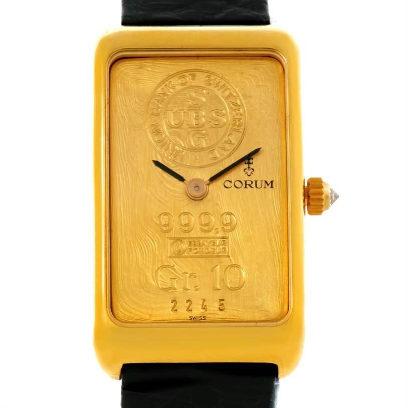 Photo of Corum 18K Yellow Gold 10 Gram Ingot 999.9 Mechanical Ladies Watch