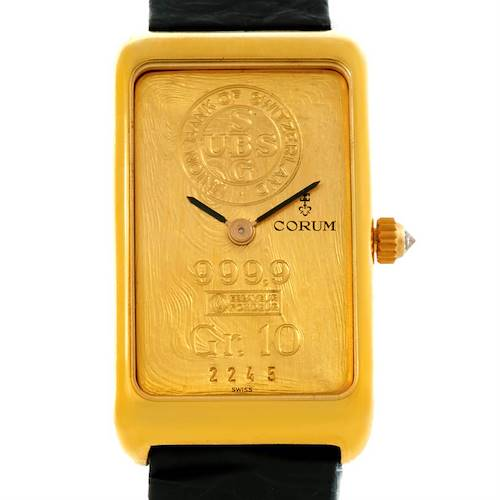 Photo of Corum 18K Yellow Gold 10 Gram Ingot 999.9 Mechanical Ladies Watch