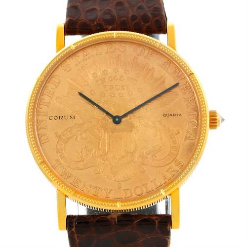 Photo of Corum 18K Yellow Gold 20 Dollars Double Eagle Coin Mens Watch