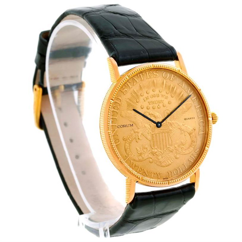 Corum 20 Dollars Double Eagle Yellow Gold Coin Mens Watch Year 1905 SwissWatchExpo