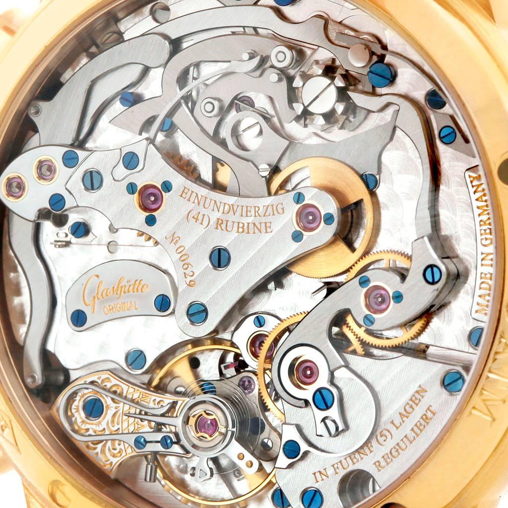 Glashutte PanoGraph Manual 18K Yellow Gold Mens Watch 61-03-25-15-04 SwissWatchExpo