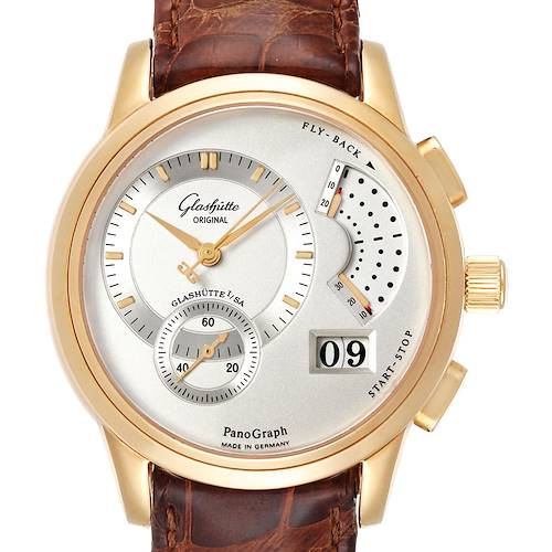 Photo of Glashutte PanoGraph Manual 18K Yellow Gold Mens Watch 61-03-25-15-04