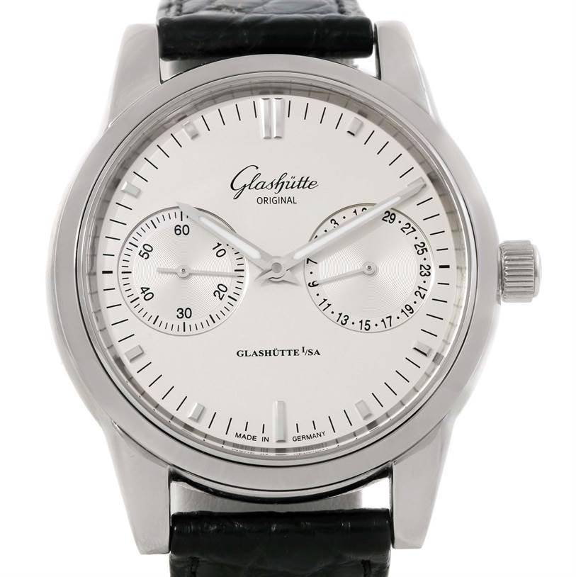 9757 Glashutte Original Senator Hand Date Chronograph Watch 39-58-02-02-04 SwissWatchExpo