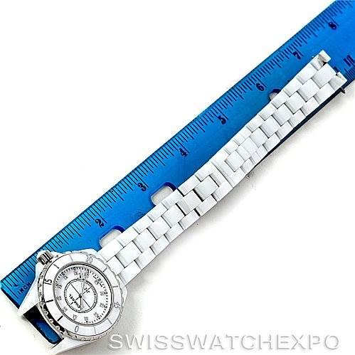 Chanel J12 White Ceramic Diamonds Quartz Ladies Watch H2422 SwissWatchExpo