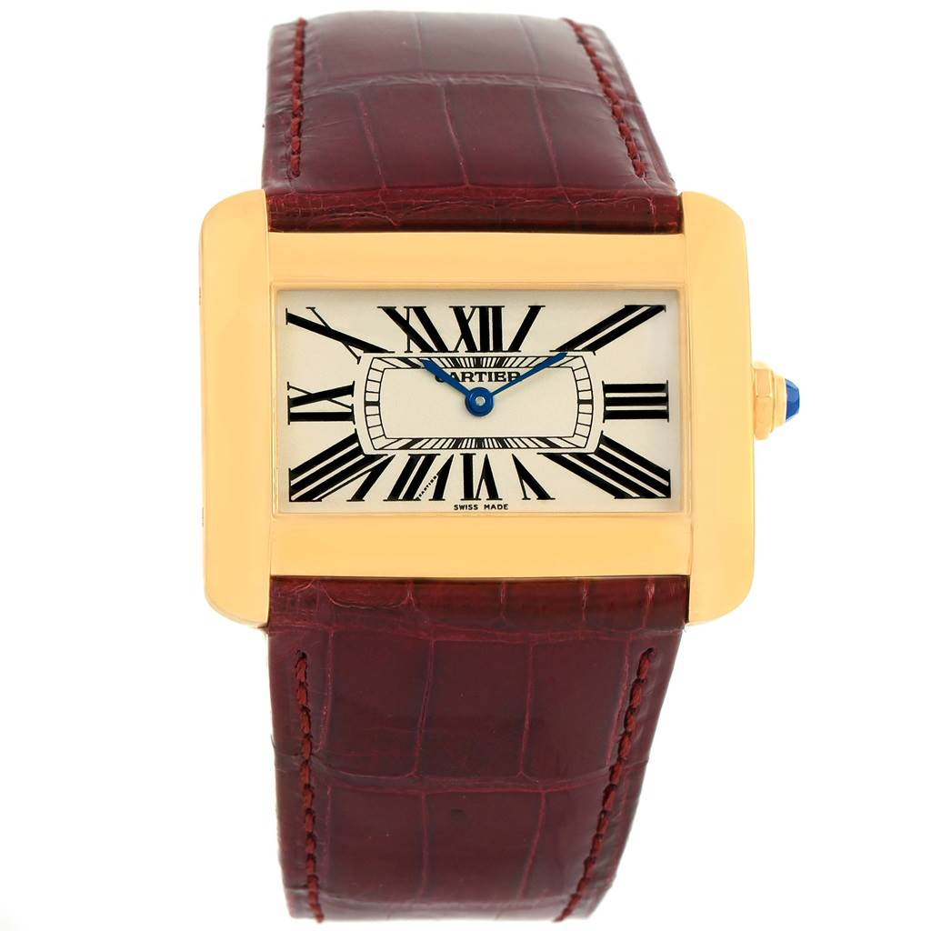 14165 Cartier Tank Divan Large 18K Yellow Gold Watch W6300556 SwissWatchExpo