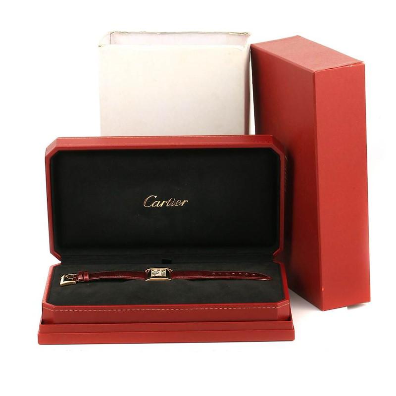Cartier Tank Divan Large 18K Yellow Gold Watch W6300556 SwissWatchExpo