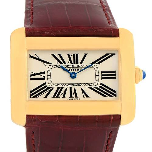 Photo of Cartier Tank Divan Large 18K Yellow Gold Watch W6300556