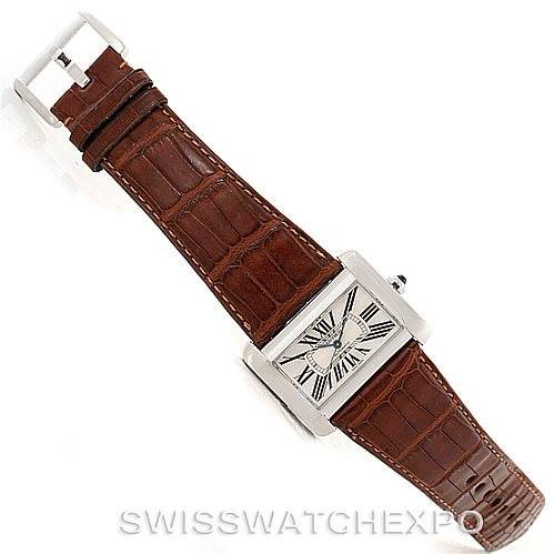 Cartier Tank Divan Large Stainless Steel Watch W6300755 SwissWatchExpo