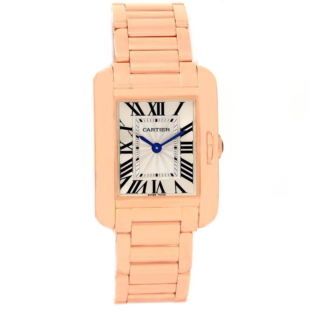 14388P Cartier Tank Anglaise 18K Rose Gold Small Ladies Watch W5310013 SwissWatchExpo