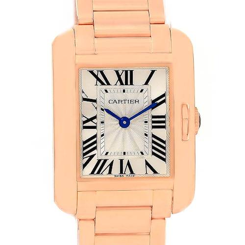 Photo of Cartier Tank Anglaise 18K Rose Gold Small Ladies Watch W5310013
