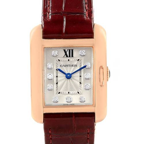 Photo of Cartier Tank Anglaise 18K Rose Gold Small Ladies Watch WJTA0007
