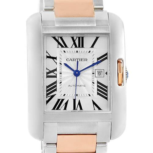 Photo of Cartier Tank Anglaise Large Steel Rose Gold Watch W5310007