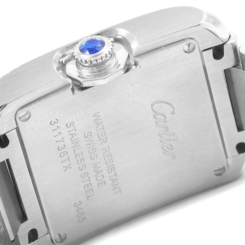 Cartier Tank Anglaise Small Steel Ladies Watch W5310022 SwissWatchExpo
