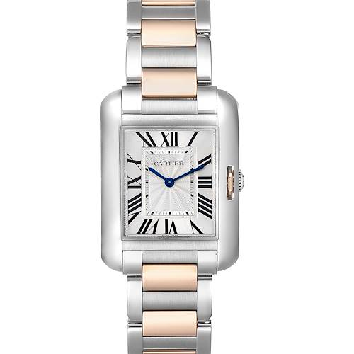 Photo of Cartier Tank Anglaise Medium Steel Rose Gold Watch WT100032