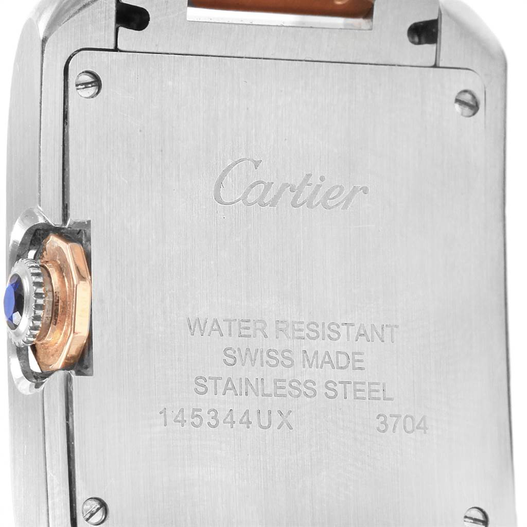 21692 Cartier Tank Anglaise Medium Steel Rose Gold Watch WT100032 SwissWatchExpo