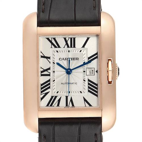 Photo of Cartier Tank Anglaise Rose Gold Brown Strap Ladies Watch W5310005