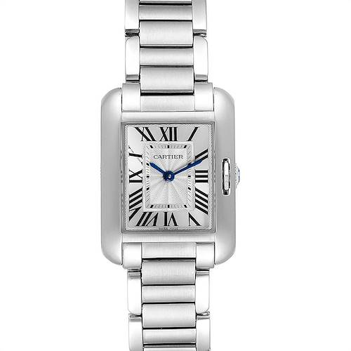 Photo of Cartier Tank Anglaise Small Silver Dial Steel Ladies Watch W5310022