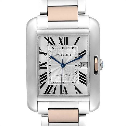 Photo of Cartier Tank Anglaise Large Steel 18K Rose Gold Ladies Watch W5310007