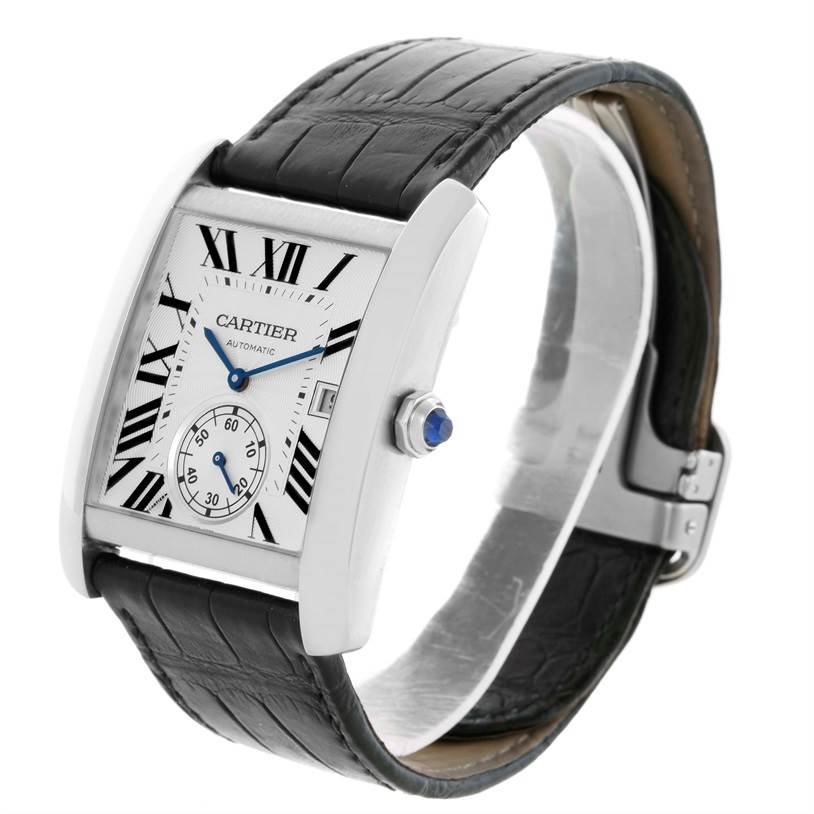 10523 Cartier Tank MC Automatic Silver Dial Mens Watch W5330003 SwissWatchExpo