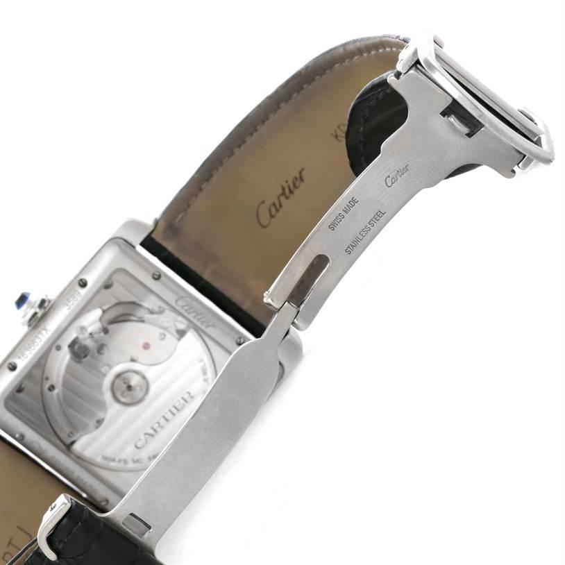 Cartier Tank MC Automatic Silver Dial Mens Watch W5330003 SwissWatchExpo