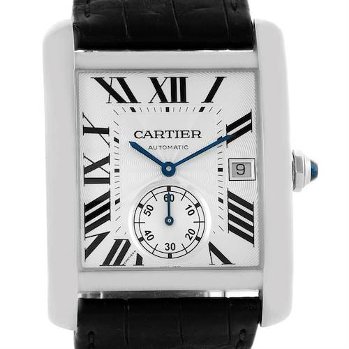Photo of Cartier Tank MC Automatic Silver Dial Mens Watch W5330003