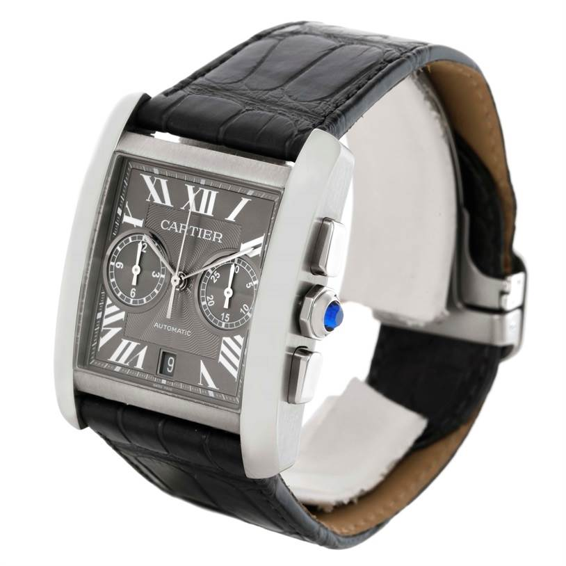 Cartier Tank MC Automatic Grey Dial Mens Watch W5330008 Box Papers SwissWatchExpo
