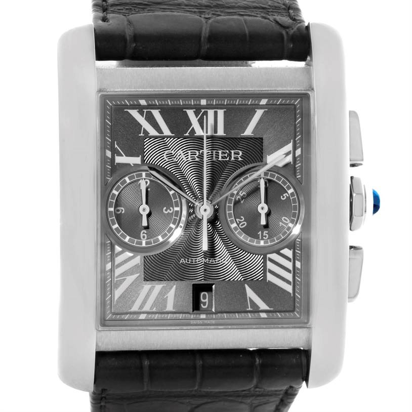 10560 Cartier Tank MC Automatic Grey Dial Mens Watch W5330008 Box Papers SwissWatchExpo