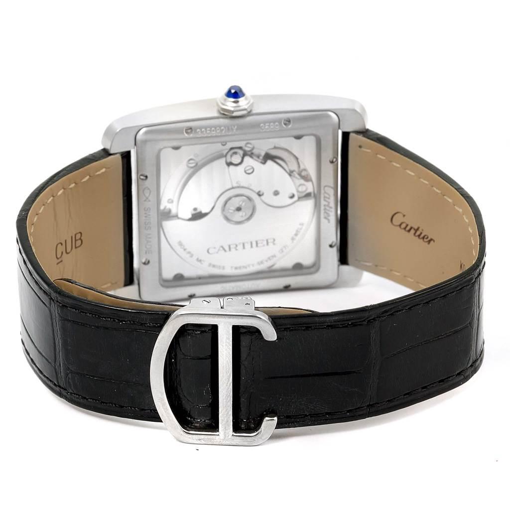 15105 Cartier Tank MC Silver Dial Automatic Mens Watch W5330003 Unworn SwissWatchExpo