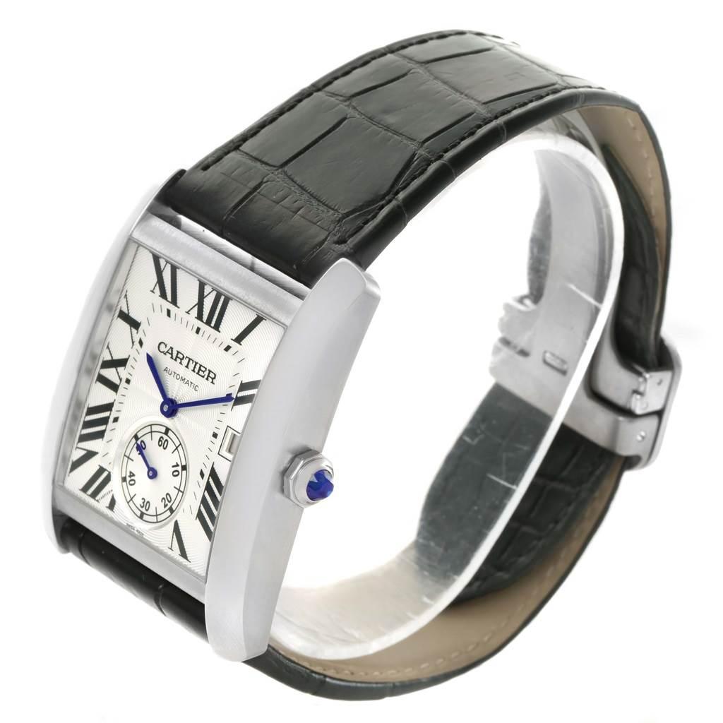 Cartier Tank MC Silver Dial Automatic Mens Watch W5330003 Unworn SwissWatchExpo