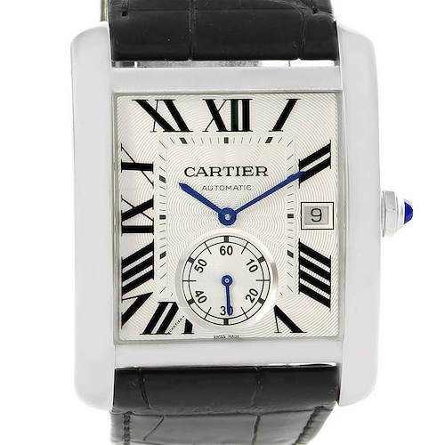 Photo of Cartier Tank MC Silver Dial Automatic Mens Watch W5330003 Unworn