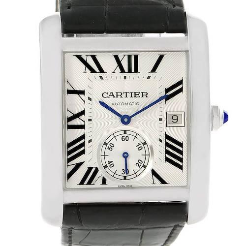 Photo of Cartier Tank MC Silver Dial Automatic Mens Watch W5330003 Unworn