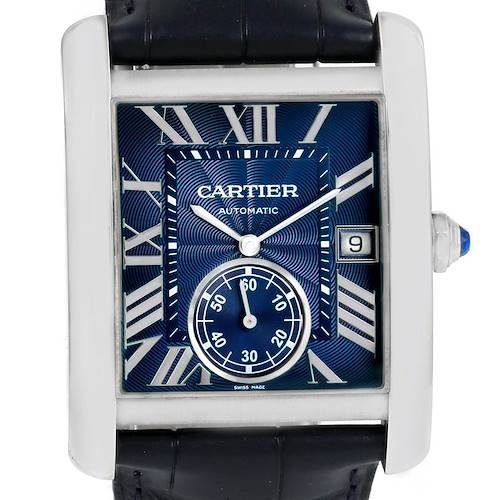 Photo of Cartier Tank MC Blue Dial Automatic Mens Watch WSTA0010