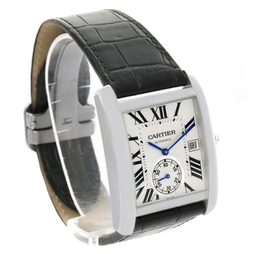 15159 Cartier Tank MC Silver Dial Automatic Mens Watch W5330003 SwissWatchExpo