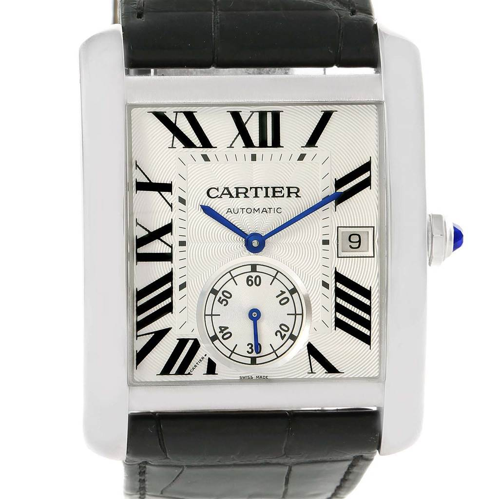 Cartier Tank MC Silver Dial Automatic Mens Watch W5330003 SwissWatchExpo