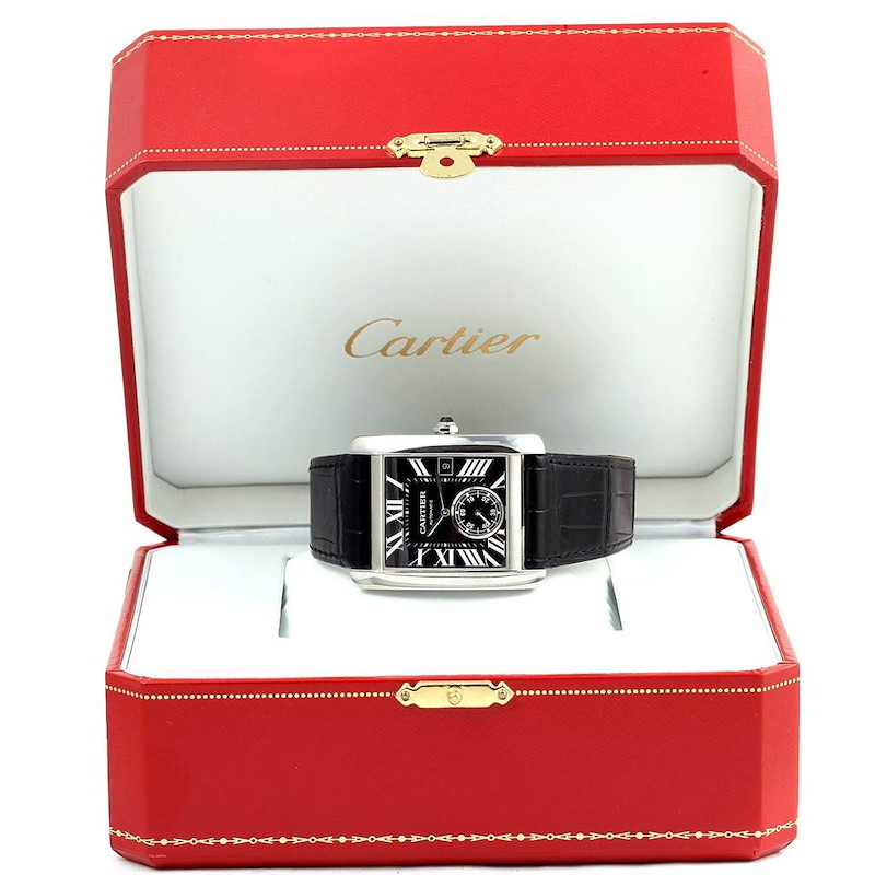 Cartier Tank MC Black Dial Automatic Mens Watch W5330004 SwissWatchExpo