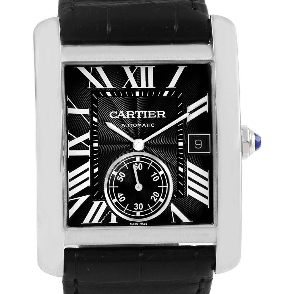 15400 Cartier Tank MC Black Dial Automatic Mens Watch W5330004 SwissWatchExpo