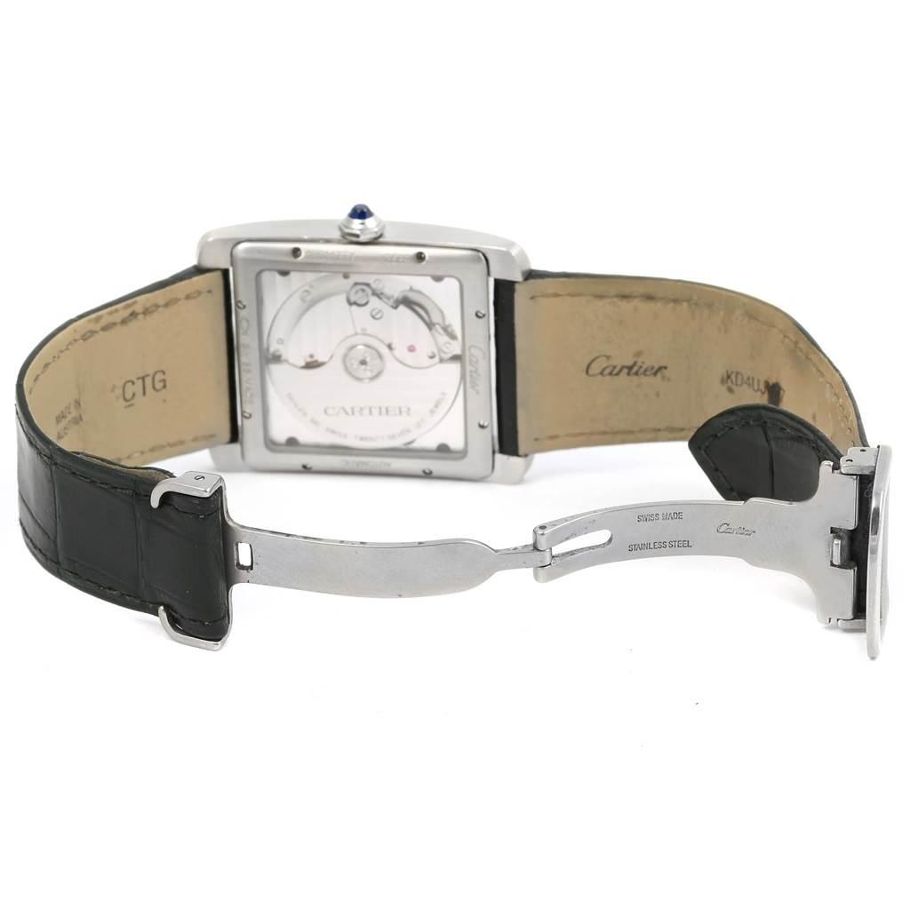 16022 Cartier Tank MC Silver Dial Automatic Mens Watch W5330003 SwissWatchExpo