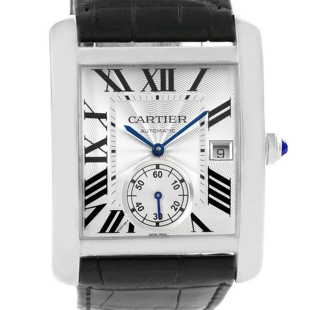 Cartier Tank MC Silver Dial Automatic Mens Watch W5330003 SwissWatchExpo