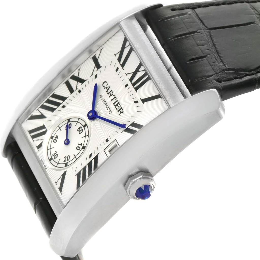 Cartier Tank MC Silver Dial Automatic Mens Watch W5330003 box Papers SwissWatchExpo