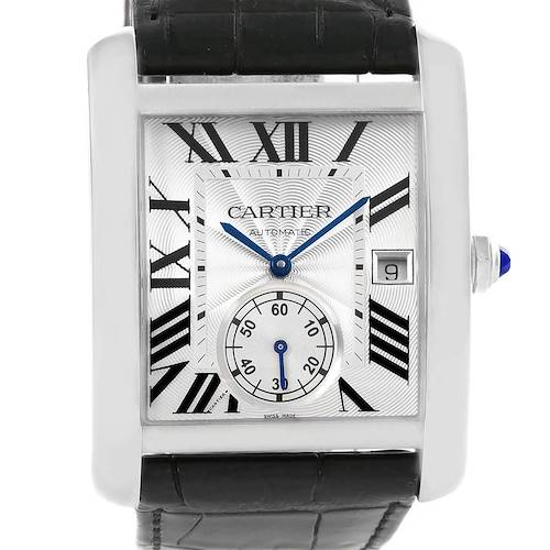 Photo of Cartier Tank MC Silver Dial Automatic Mens Watch W5330003 box Papers