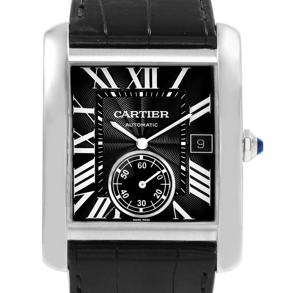 20269 Cartier Tank MC Black Dial Automatic Mens Watch W5330004 Box Papers SwissWatchExpo
