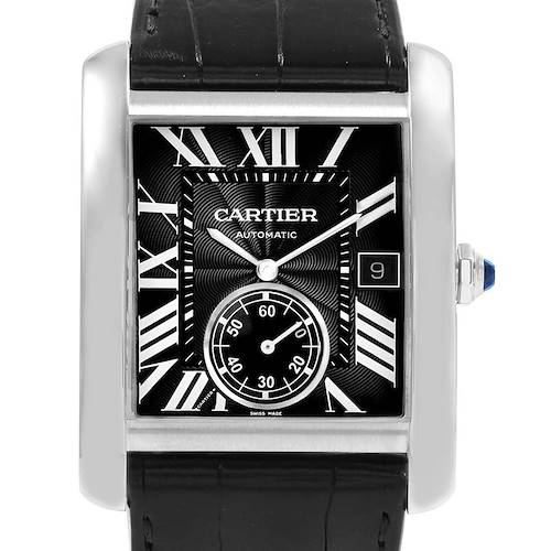 Photo of Cartier Tank MC Black Dial Automatic Mens Watch W5330004 Box Papers