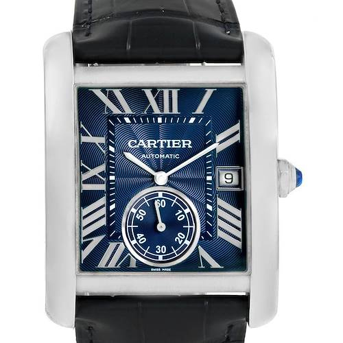 Photo of Cartier Tank MC Blue Dial Automatic Mens Watch WSTA0010 Box Papers