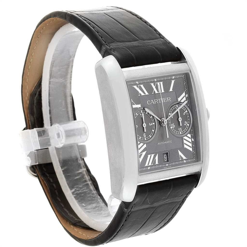 22311 Cartier Tank MC Automatic Grey Dial Chronograph Mens Watch W5330008 SwissWatchExpo