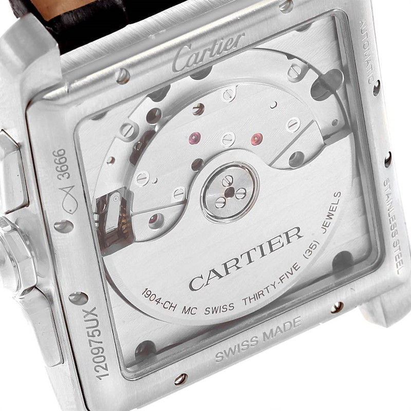 Cartier Tank MC Automatic Grey Dial Chronograph Mens Watch W5330008 SwissWatchExpo