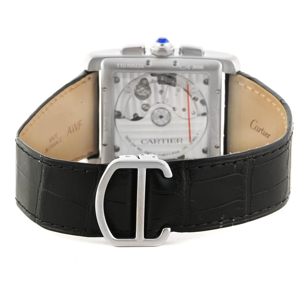 22275 Cartier Tank MC Silver Dial Automatic Chronograph Mens Watch W5330007 SwissWatchExpo