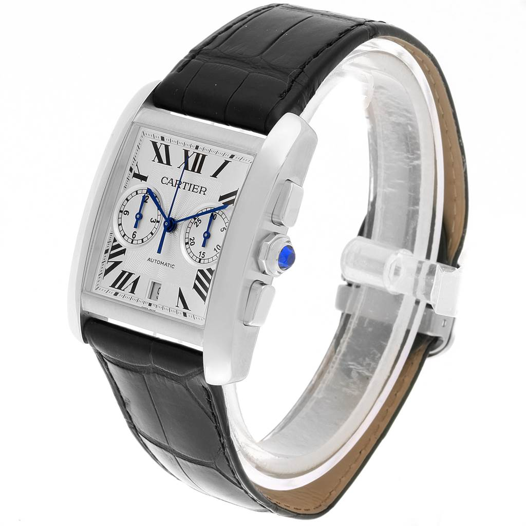 22275 Cartier Tank MC Silver Dial Automatic Chronograph Mens Watch W5330007 SwissWatchExpo