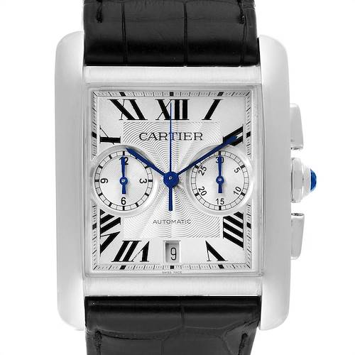 Photo of Cartier Tank MC Silver Dial Automatic Chronograph Mens Watch W5330007 Box