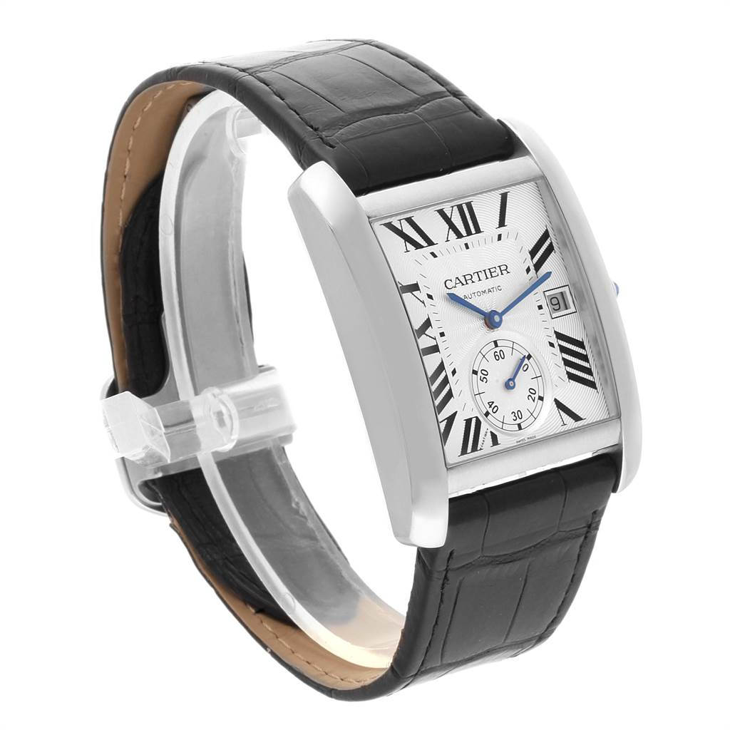 22395 Cartier Tank MC Silver Dial Automatic Steel Mens Watch W5330003 SwissWatchExpo
